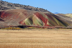 Layers colored in different geological eras. (Eclectic Jack) Tags: eastern oregon trip october 2018 rural autumn fall mountains painted hills hill central