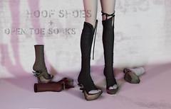 50% OFF: HOOF SHOES & OPEN TOE SOCKS (=^HARO^=) Tags: haro secondlife sl 2ndlife nopin anime utilizator maitreya kemono japan hoof shoes opentoe socks