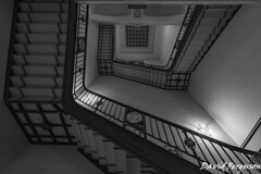 Staircase, Berlin (Daveoffshore) Tags: berlin germany monochrome stair stairway bannister architecture