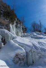 One Day (maureen.elliott) Tags: winterlandscape ice snow waterfall nature outdoors blueskies hiking snowshoeing inglisfalls brucetrail