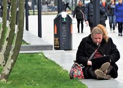 Just sit down (peer.heesterbeek) Tags: sitting street rotterdam netherlands cigarette spring