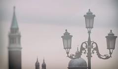venezialavedocosi (Rino Alessandrini) Tags: architecture famousplace streetlight buildingexterior city urbanscene lantern cultures history europe outdoors sky cityscape electriclamp builtstructure ornate old tower nopeople architectureandbuildings venice venezia fog