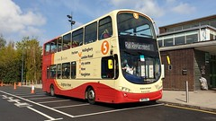 Brighton & Hove 466 (BK13 OAL) Chichester 14/4/19 (jmupton2000) Tags: bk13oal volvo wright wrightbus eclipse gemini bus brighton hove railway rail replacement