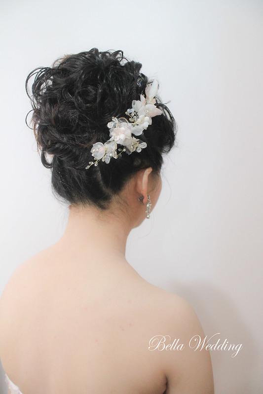 嘉義新秘,大林新秘,短髮新娘,時尚文定造型,黑髮新娘 , HD高清噴槍底妝 ,花苞高雅造型
