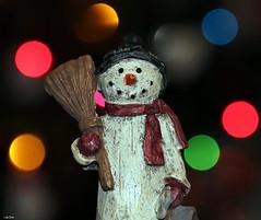It's A Little Frosty (Lisa Zins) Tags: lisazins macro monday macromondays closeup christmas christmasdecorations christmaslights 2018 bokeh holiday holidaybokeh figurine snowman frosty lights tamron season seasonal december24