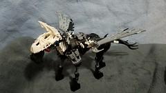 Bionicle M.O.C. - Pegasus (Makuta Alvarez) Tags: bionicle lego horse pegasus wings black toy mythical rahi mythological creature equine silver flying hooves animal moc speed build