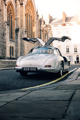 Gullwing. (Alex Penfold) Tags: mercedes 300sl gullwing silver 300 sl merc mercedesbenz benz london 2018 classic car cars autos