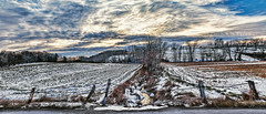 IMG_6947-53PRCtazl1TBbLGERk2 (ultravivid imaging) Tags: ultravividimaging ultra vivid imaging ultravivid colorful canon canon5dm2 clouds sunsetclouds stormclouds scenic winter snow rural road water fields farm field trees twilight sunset sky vista pennsylvania pa panoramic landscape view