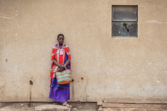 Broken (u c c r o w) Tags: portrait woman girl broken glass red purple wall streetlife street urban urbanlife city citylife window africa african tanzania tanzanian uccrow maasai colorful minimal minimalist