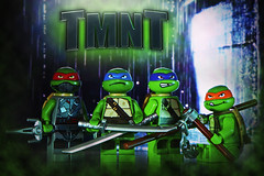 LEGO TMNT (weeLEGOman) Tags: lego tmnt teenage mutant ninja hero turtle turtles leonardo michelangelo raphael donatello minifigure minifigures ooze toy toys comic comics cartoon film movie macro nikon d7100 105mm uk rob robert trevissmith