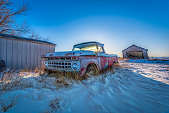 Vintage Ford Pickup Truck (CTfotomagik) Tags: ford pickup truck vintage classic rust winter snow frigid frozen hdr nikon tamron ctfotomagik colorado perspective wideangle cold vehicle automobile rural decay