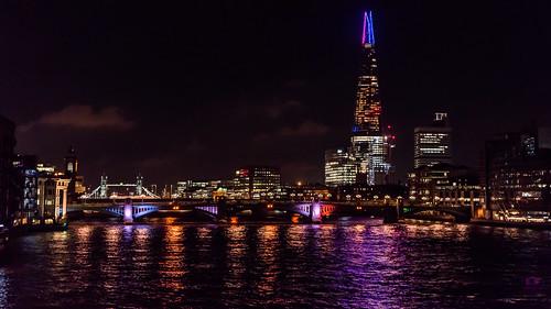London Skyline By Night 4k Wallpaper Desktop Background