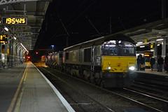Direct Rail Services 66433 TnT 66424 - Ipswich - 3S10 Stowmarket - Stowmarket (Lukas66538) Tags: class 66 664 66433 66424 ipswich geml great eastern mainline 3s10 stowmarket dgl rhtt rail head treatment train shed drs direct services