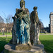 THREE STATUES ON AN INAPPROPRIATE PLINTH [KINGS INNS PUBLIC PARK]-149630