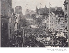 1908 fraternal organization  parade on State st (albany group archive) Tags: early 1900s old albany ny vintage photos picture photo photograph history historic historical