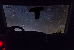 CarStars (nessaalarcon) Tags: joshuatree desert cars car california stars sky nighttime night longexposure