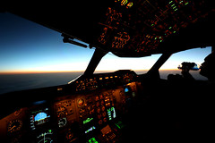 water...it does the body good! (Jaws300) Tags: night horizon sky pilot water flight morning dawnpatrol dawn sunrise flightdeck flightlevel flightlevels cockpit a300600 a300 airbus cruising cruise aloft airborne scenery flying flyingscenery level levels sun rise rising daybreak above