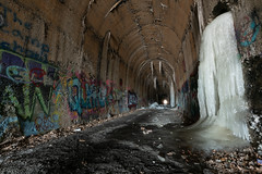 DSC_4485 (Michael P Bartlett) Tags: train tunnel old decay abandoned ice winter cold graffiti