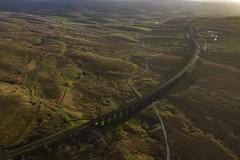 Ribblehead_05 (julesh1966@googlemail.com) Tags: ribbleheadviaduct northyorkshire yorkshiredales sunrise clouds railway landscape grassland ingleborough colour autumn ariel drone