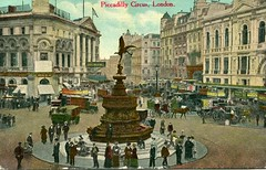 Piccadilly Circus, London, circa 1919 (The Wright Archive) Tags: piccadilly circus london postcard vintage old 1919 west end westminster eros statue people londonscene city urban uk england londonstreet londonview londonlandmark lostlondon londonhistory oldlondon
