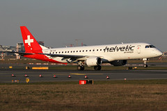 HB-JVS | Helvetic Airways Embraer ERJ-190AR | Frankfurt Airport EDDF/FRA | 29/03/19 (MichaelLeung213) Tags: hbjvs runway 18 frankfurt plane helvetic airways embraer erj190 ejet e190 e190ar spotting am main rotation zurich swiss