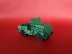 Jeep Willys M38A1 - Alberto Plaja (Stefano Borroni (Stia)) Tags: origami origamipaper origamicdo origamilove origamiart piegarelacarta arte folding foldingpaper papiroflexia carta jeep fuoristrada paper handmade fold cdoitalia italia