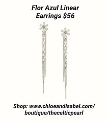 Today's Featured Item: Flor Azul Linear Earrings $56 Shop: https://www.chloeandisabel.com/boutique/thecelticpearl/products/E562CLRH/flor-azul-blue-linear-earrings  Dive into dimension with our one-of-a-kind linear design! These front-to-back beauties brin (thecelticpearl) Tags: love trending new spring2k19 shop trend crystal buy lifetime guarantee flowers cubiczirconia chloeandisabel daily feature trendy trends rhodium shopping earrings jewelry product crystals boutique accessories black clear thecelticpearl spring floral diamond ootd candi online shiny style blackdiamond fashion