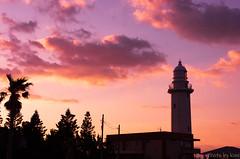 Nojimazaki Lighthouse (t.kunikuni) Tags: 南房総市 日本 jp 夜明け 千葉 野島崎 野島崎灯台 灯台 赤 japan chiba minamiboso nojimazaki lighthouse sunrise dawn shadow dark black sky cloud
