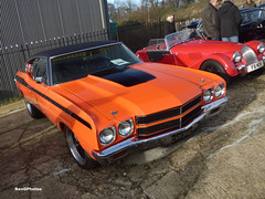 Chevelle (BenGPhotos) Tags: 2019 brooklands museum new years day classic gathering car show event orange black us american muscle chevrolet chevelle chv311e