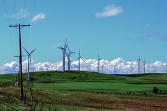 South of Goldendale, Washington. Wind turbines. (Platoesq) Tags: supervivid nikonphotography digitalphotography clouds cloudscapes