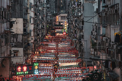 Temple Street, HK (mikemikecat) Tags: ç´è² temple street market night hong kong 油麻地 廟街 built structure building exterior city illuminated place worship religion travel destinations belief crowd crowded high angle view spirituality outdoors life old happyplanet asiafavorites