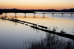 DSC_1041 (Jesus DTT) Tags: rio guadiana puente sol puesta atardecer nolaya embalse vicario ciudadreal pantano
