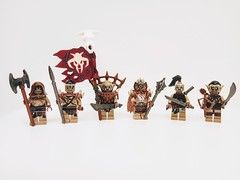 Orcs from Morc (11inthewoods) Tags: lego lotr lordoftherings orc orcs warriors castle custom