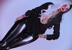 Back in black ... (beccaprender) Tags: catwa catya bento maitreya lara addams session ling doe suicidalunborn latex boundelegance boundtoexcite tattoos insanya