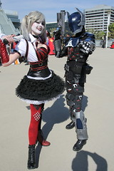 WonderCon 2019 - Harley Quinn and the Arkham Knight Cosplay (2) (W10002) Tags: harley quinn harleyquinncosplay arkham knight arkhamknight batman batmancosplay wondercon wondercon19 wondercon2019 comiccon cosplay dc dccomics dccosplay