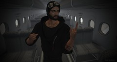 F*ck You Airlines (Viper_Shadowcry) Tags: sl secondlife second life mesh bento signature gianni catwa danil kokoro poses punk gift pose edgewater bay district vrsion rv31 mens hoodie hoorenbeek cargo pants hebenon vial male mod against stream ink piercing native mkj sneakers purfect beard a