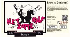 Netherlands - Plattelandsbrouwerij Het Zotte Kalf (Winsum) (cigpack.at) Tags: netherlands niederlande holland plattelandsbrouwerijhetzottekalf hetzottekalf brangus quadrupel bier beer brauerei brewery label etikett bierflasche bieretikett flaschenetikett