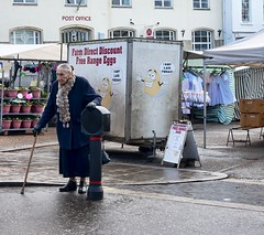 Now I'm Tired (sasastro) Tags: market flowers walking stick streetphotography street candid peoplewatching diss norfolk