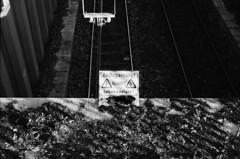 Bahndamm Det (Thomas Zampich) Tags: bahn gleise kvb köln sw bw analog