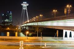 city-life-Bratislava-Bridge (nnikolas) Tags: longexposition nightscape bridge street cityscape city night exposition samyang samyang35mm ufobridge bratislava slovakia water nightphotography danube
