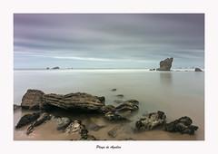 Playa de Aguilar... (Canconio59) Tags: playa beach cielo sky sea rocks water costa coast largaexposición longexposure playadeaguilar asturias españa spain