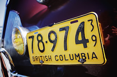 """78-974"" (Eric Flexyourhead) Tags: vancouver canada britishcolumbia bc mountpleasant mainstreet eastvan city urban detail fragment car vintage classic retro numberplate licenseplate shallowdepthoffield ricohgr"