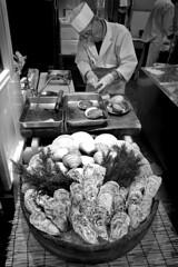 Kyoto - Japan (luca marella) Tags: kyoto japan street streetstyle oyster food streetfood bw bn bnw blackwhite lucamarella