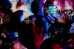Planetary Pileup (Ruff Edge Design) Tags: multipleexposure intentionalcameramovement icm composite abstract circles