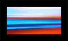 Coast Abstract Orange (SK Monos) Tags: abstract creative colours orange beach seascape landscape canon blue icm cornwall perranporth blur water sky skyscape experiment coast coastscape