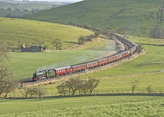 45596 Nr Hellifield 16-02-19 (prof@worthvalley) Tags: all types transport steam locomotive railway railroad uk 45596 bahamas jubilee
