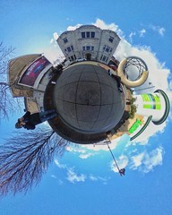 360 outside Blackwood Miners institute (tinyworlds3600) Tags: tinyworld caerphilly ccbc blackwood ricohtheta tinyplanet tiny tinyplanet360blackwoodthetaricohtinyworldsminersinstitutecaerphillyccbc