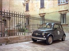Lecce, Italy. (wojszyca) Tags: fuji gsw680iii 6x8 120 mediumformat fujinon sw 65mm kodak ektar 100 epson v800 car auto classic fiat italy lecce soloparking carspotting