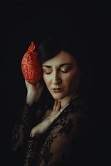 Love is silence (Marty085) Tags: selfportrait portrait portraiture love dark heart fineart art beauty italian canon autoritratto