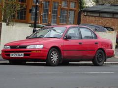 1993 Toyota Corolla 1.3 GLi (Neil's classics) Tags: vehicle 1993 toyota corolla 13gli car